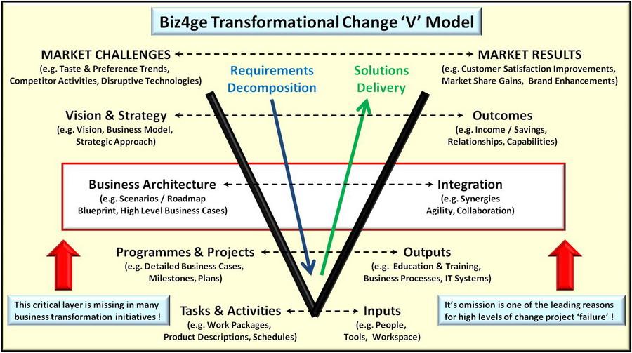 Biz4ge Transformational Change 'V' Model